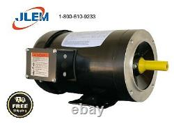 1 HP 1800 RPM 56c 3 Phase Premium Efficiency Electric Motor Free Shipping