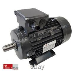 4KW 5.5 HP Three (3) Phase Electric Motor 1400 RPM 4 Pole IE2 Efficiency NEW