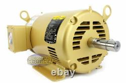 5 Hp 3 Ph Three Phase Electric Motor EM3218T Baldor 1750 RPM 184 T Frame New