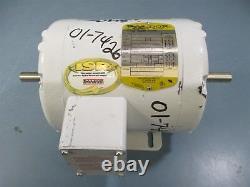 Baldor 35M456-1802G1 3PH 1/2 HP 1725RPM Dual Shaft Electric Motor Used