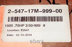 Baldor Electric Motor. 75 HP 230/400 50 Hz 1425 PH 3 2-547-17M-999-00