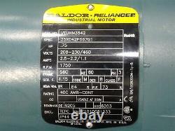 Baldor VEUHM3542 Electric Motor 0.75HP 1750RPM with202A05R56 TiGear 2 Gear Reducer