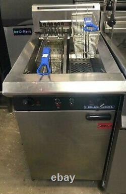 Blue Seal Double Tank Double Basket Free Standing Three Phase Electric Fryer