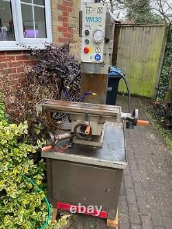 Boxford VM30 THREE PHASE Milling Machine Comes with Tooling and Bits