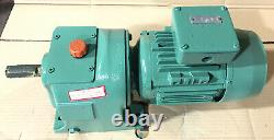 Brook Crompton 0.75kW 3-Phase Electric Motor Gearbox Straight Drive 27RPM