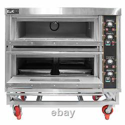 Commercial Pizza Baking Oven Large Twin Deck Three Phase Electric 12x10 6.6kW