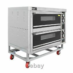Commercial Pizza Baking Oven Large Twin Deck Three Phase Electric 12x10 B1392