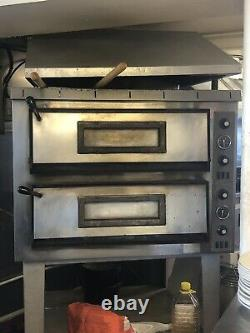 Commercial Pizza Oven Large Twin Deck Three Phase Electric 12x12 Pizzas