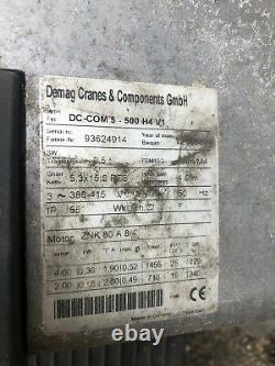 Demag Electric Hoist 500 KG Winch Chain Hoist DC Com 5 500 H4 V1 Three Phase 415