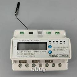 Din rail energy meter kwh with over under 3 Phase 60A remote control wifi smart