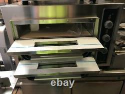 Electric Double Deck Pizza Oven Single/Three Phase 8 x 10 Pizza