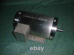 Electric Motor 1 HP 3Phase 1735 RPM Stainless Steel Washdown (32292-N4)