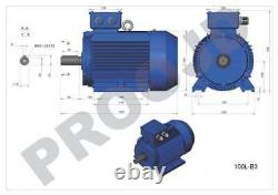 Electric Motor 5,5KW (7.5HP) 3 PHASE 2 POLE 2800rpm 3000rpm B3 100 Frame Size