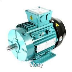 Electric Motor Aluminium 3 Phase 2.2kW 3HP 4 Pole 1400 RPM 100L Frame B3 IE2
