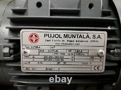 Electric Motor and In Line Gearbox. 5 HP- 0,37KW-19RPM-19mm shaft keyed