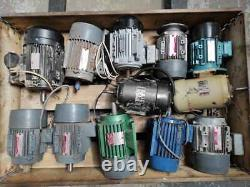 Electric Motors, used single and three phase motors, 12pcs in total, Job Lots