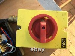 Elektra Beckum three phase electric motor. 2.8KW with control switch & isolator