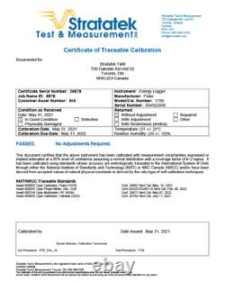 Fluke 1730 3 Phase Electrical Energy Logger Three Phase Power NIST Calibrated