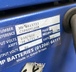 Forklift Battery Charger 80v 120amp Three Phase Chloride Motive Power Plus
