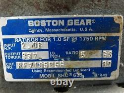 General Electric DC Motor 5BPA56RAG8A 1HP 1725RPM 90V 9.5A WithBoston Gearbox 81
