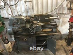 Harrison 11 inch swing Lathe, 1960s 3 phase metal and plastic lathe, working