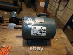 Louis Allis 5 HP Ac Electric Motor 184t Frame 230/460 Vac 1735 RPM 3 Phase