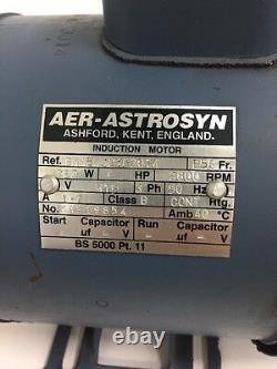 NEW AER-ASTROSYN 3-Phase Imperial Electric Motor 750w 2800RPM 2-Pole B56 Frame