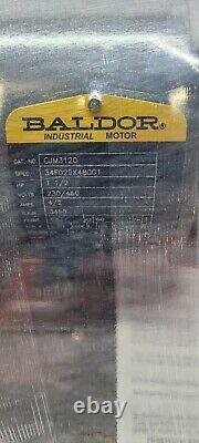 New Baldor 1.5 HP Ac Electric Motor 230/460 Vac 3 Phase 56j 3450 RPM Cjm3120