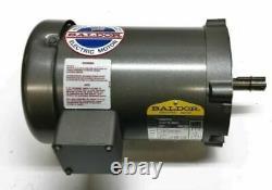 New Baldor 1 HP Electric Motor 230/460 Vac 3 Phase 56c Frame 3450 RPM Vm3115