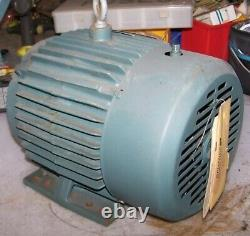 New Reliance 3 HP Electric Ac Motor 460 Vac 1740 RPM 182t Frame 3 Phase