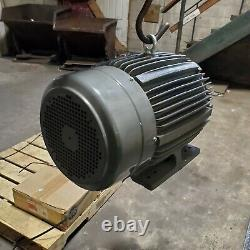 New Teco Westinghouse 30 HP Electric Motor 230/460 Vac 1770 RPM 286t Frame
