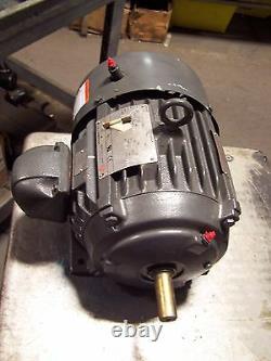New Us Electric 2 HP Ac Electric Motor 184 Frame 460 Vac 3505 RPM Tefc