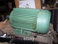 New Worldwide 3 HP Ac Electric Motor 1765 RPM 182t Frame 230/460 Vac Tefc