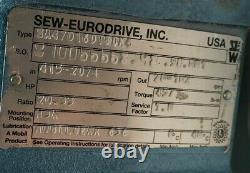 SEW EURODRIVE 1 HP AC ELECTRIC MOTOR With 20-102 RPM GEAR MOTOR 230YY/460Y
