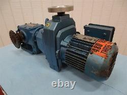SEW-EURODRIVE DF14DT71D4 Electric Motor 230/460V 2.15/1.08A. 5HP 450-2250RPM