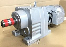 SEW Eurodrive 1.1kW 3-Phase Electric Motor Brake Gearbox Straight Drive 24RPM