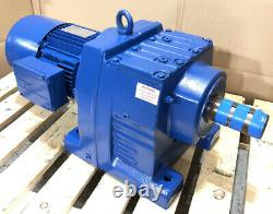 SEW-Eurodrive 1.5kW 3-Phase Electric Motor Brake Gearbox Straight Drive 11RPM