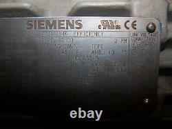 Siemens 15 HP Ac Electric Motor 254t Frame 3530 RPM 208-230/460 Vac Tefc 3 Phase
