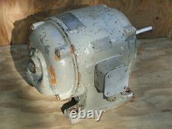 Sterling 3 HP 3-Phase Electric Motor 220/440V 85/42 Amp 1800 RPM 1 Dia. Shaft