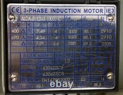 TECO 4kW (5.5HP) AC Electric Motor 2910RPM 2-Pole B3 Foot 112M Frame IE3