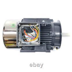 Techtop CB3-AL-TF-56C-2-B-D-1 Cobra Electric Motor, 1HP, 3600RPM, 230/460V, 56C