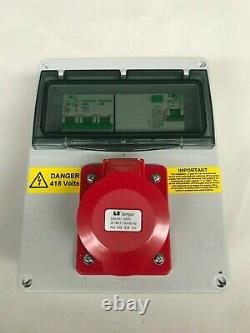 Three, 3 phase 16A, 32A, 63A, 5 Pin RCD Industrial CEE Socket. Distribution board