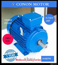 Three phase 0.75kwith1hp 6 pole 960rpm Electric motor 80 frame compressor
