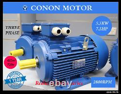 Three phase 5.5kwith7.5hp 2 pole 2800rpm Electric motor 112 frame compressor