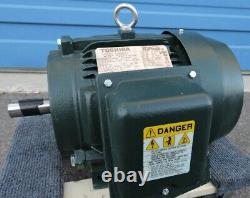 Toshiba 5HP 1750RPM ELECTRIC MOTOR 184T FRAME 0054SDSR41A-P NEW READ