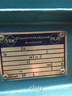 VEM 11kW Electric Motor 6-Pole B3 Foot 160 Frame 3-Phase 965RPM 415/720v
