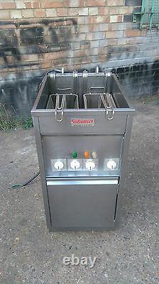 Valentine Single Well Twin Basket Turbo Electric Three Phase Chips Fryer