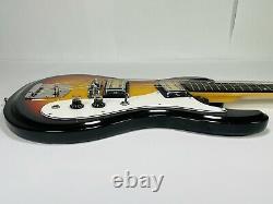 Vintage Circa 70s Sunburst Univox Hi Flier Phase III 3 Electric Guitar
