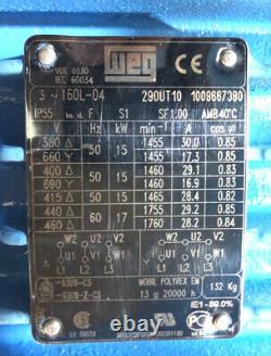 WEG 15kW 3-Phase AC Electric Motor 1465RPM 4-Pole B5 Flange 160L Frame